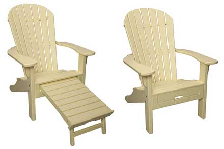 Adirondack with Pull Out Ottoman