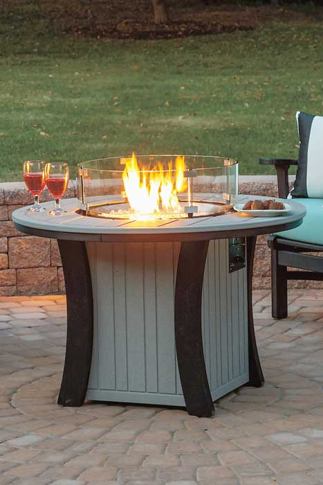 Round 2-Tone Fire Table